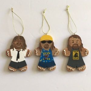 WWE The Three Faces Of Foley Gingerbread Ornaments
